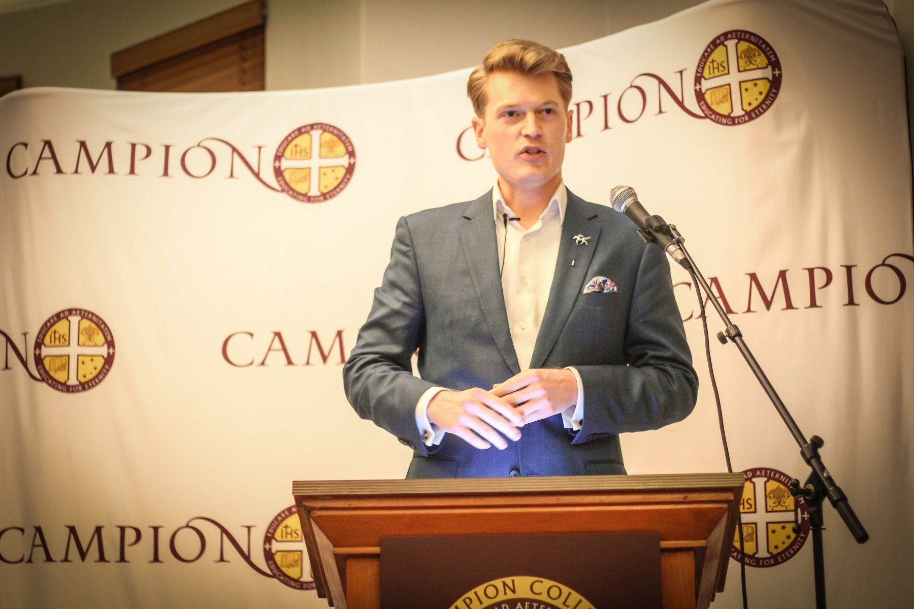 Martyn Iles visited Campion College
